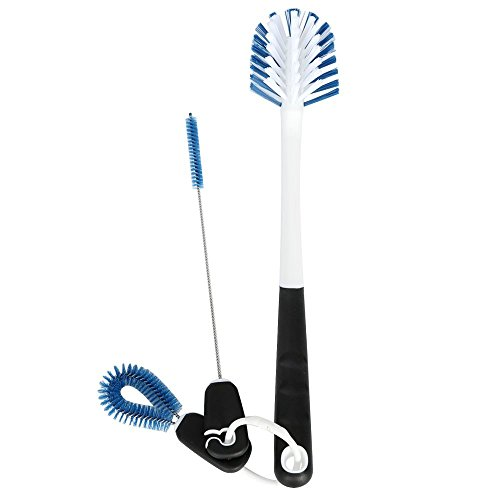 Price comparison product image Obecome 3Pcs Good Grips Water Bottle Cleaning Brush set. Perfect for Sport Water Bottles,  Coffee Travel , baby bottles