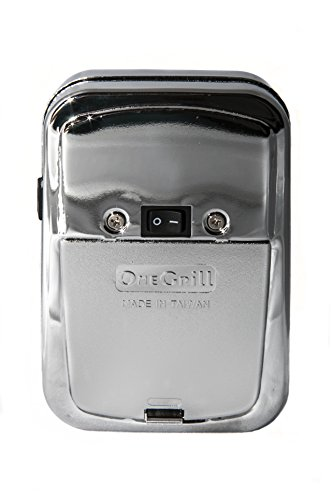 Rotisserie Battery Powered (OneGrill Cordless Grill Rotisserie Motor-25 lb. Load (Chrome Motor Case))