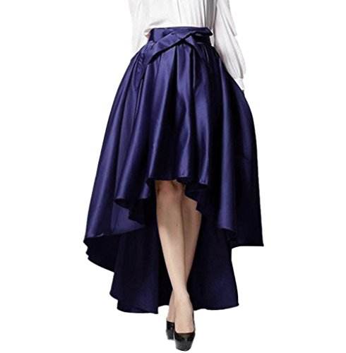 Pleat Hem Skirt (WEHOPS Superb Handmade Hi-lo Skirt Asymmetrical Bowknot Empire Long Pleat Skirts)