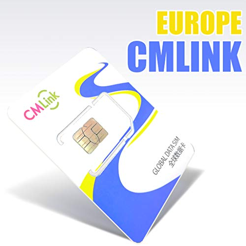 Europe Sim Card Prepaid Roaming Travel Sim Card 15 Days 6GB Data Cover ()