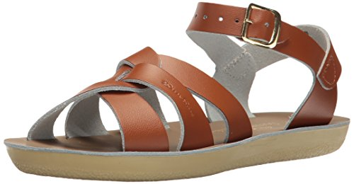 (Salt Water Sandals by Hoy Shoe Unisex Sun-San Swimmer Flat Sandal, tan, 13 M US Little Kid)