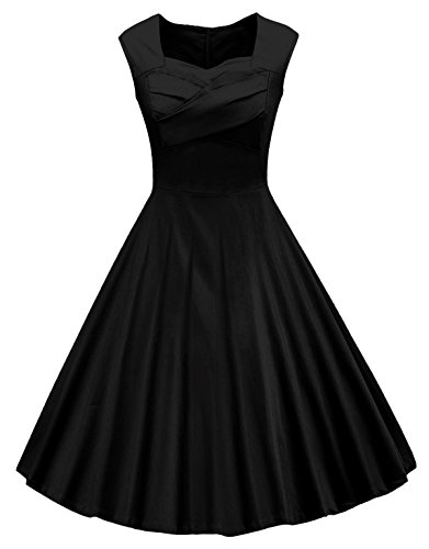 VOGVOG Women's 1950s Retro Vintage Cap Sleeve Party Swing Dress
