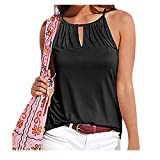 Gibobby Women's Cute Yoga Workout Mesh Shirts Activewear Sexy Open Back Sports Tank Tops Black