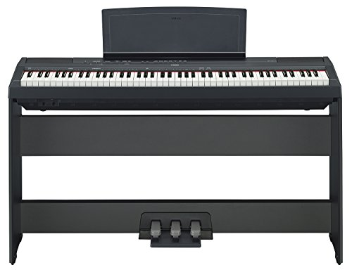Yamaha P-115 Digital Piano - Black Bundle with Yamaha L-85 Stand, LP-5A Pedal, Furniture Bench, Inst - Image 2