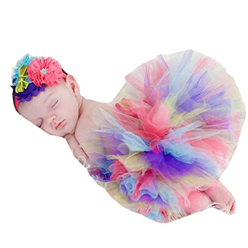 Clearance! Newborn Baby Girls Princess Photo Photography Prop Tutu Skirt Headband Outfit Set -
