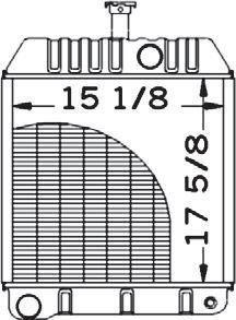 New Radiator 579010M92 Fits 40B, 50C, & 50D by Massey Ferguson