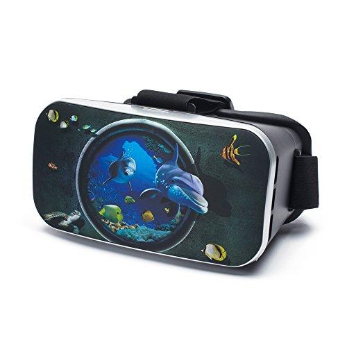 VR Virtual Reality Brille by aricona - Gaming Headset für Filme & Spiele in 3D Format für 4.0 - 6.0 Zoll Smartphones, in Seaworld Design