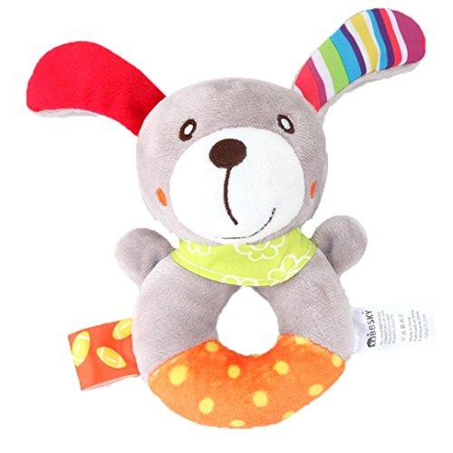 Animal Dolls,Kaisen Baby Infant Rattles Plush Animal Strolle