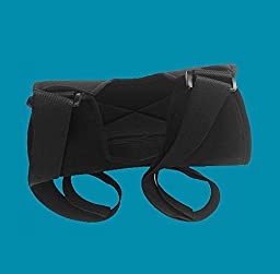 Genmine Breathable Dislocated Arm slings shoulder immobilizer Rotator Cuff for Broken Wrist Elbow Support for Men or Women