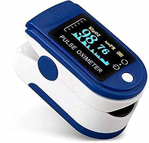 Reelom rox 1100 Fingertip Pulse Oximeter Digital LED Screen Blood Oxygen Saturation Monitor, SpO2 and Heart Rate Monitoring Made in India with 6 Month Warranty