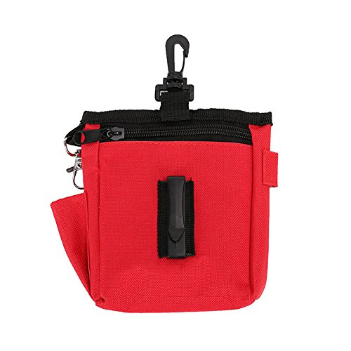 GZU Training Obedience Food Snack Treat Pet Dog Puppy Carry Waist Bag Belt Pouch - Red