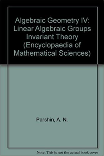 ALGEBRAIC GEOMETRY IV (Encyclopaedia of Mathematical Sciences 55)