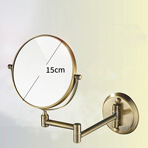 Bathroom wall-mounted make-up mirror bathroom folding telescopic beauty mirror magnifying - Glassis