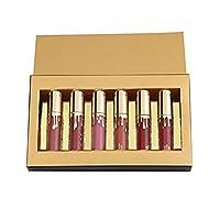 Witspace Matte Velvety Liquid Lipstick Matte Liquid Lipgloss Waterproof Lip Gloss 6pcs (A)