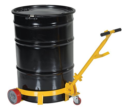 Vestil LO-DC-PU Lo-Profile Drum Caddie with Bung Wrench Handle and Poly-on-steel Wheel, Steel, 21-5/8'' Length, 31-5/8'' Width, 37-5/8'' Height, 1200 Capacity by Vestil (Image #5)