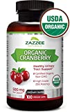 Organic Cranberry Extract | 12,500 mg Strength | 100 Veggie Caps | USDA