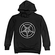 CRIS Lucifer Sigil Baphomet Goat Pentagram Sweatshirts Black For Men