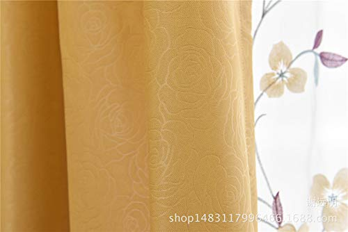 ZgzCurtain Window Drapes High-Grade Full Blackout Fabric Living Room Bedroom Bay Window Curtains,2-Pack,W x L-66 x 84 Inch
