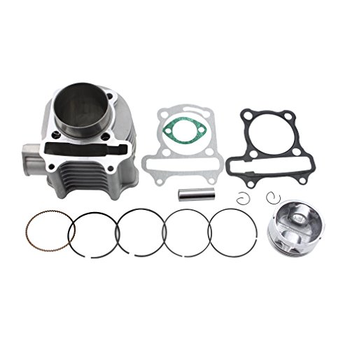 GOOFIT 57.4mm Bore Cylinder Kit with Piston for 4 Stroke GY6 150cc ATV 157QMJ - Big Bore Engine