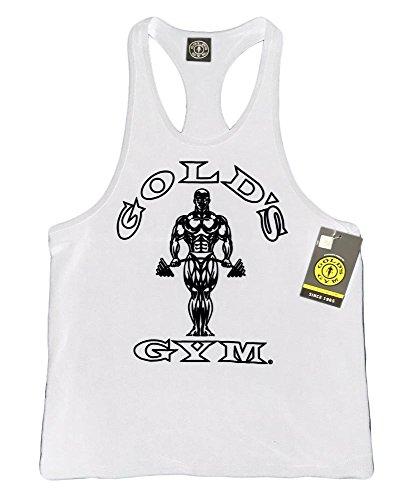 Gold's Gym Tank Top - Official Licensed - TT-1 (L, White)