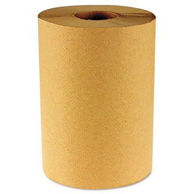 Hardwound Paper Towels, Nonperforated 1-Ply Kraft, 800ft, 6 Rolls/Carton, Total 6 RL, Sold as 1 Carton