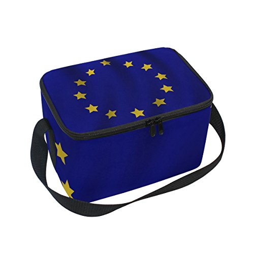 FORMRS Insulated Lunch Box Misc European Union Flag Lunch Bag for Men Women, Portable Tote Bag Cooler Bag for Work/School/Picnic
