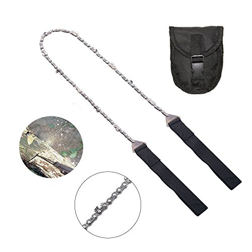 YONGTEK Pocket Camping Survival Gear Pocket Chainsaw Best Compact Folding Hand Saw Tool for Survival Gear, Camping, Hunting, Tree Cutting or EmergencTree Cutting, Hiking Multitool -Pocket Saw Camp Saw