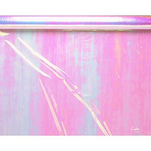 Functional Iridescent Opal Cellophane Wrap Party Gift Supplies, 1 Pieces, Made from Plastic, Opal Iridescent, 10 feet x 30