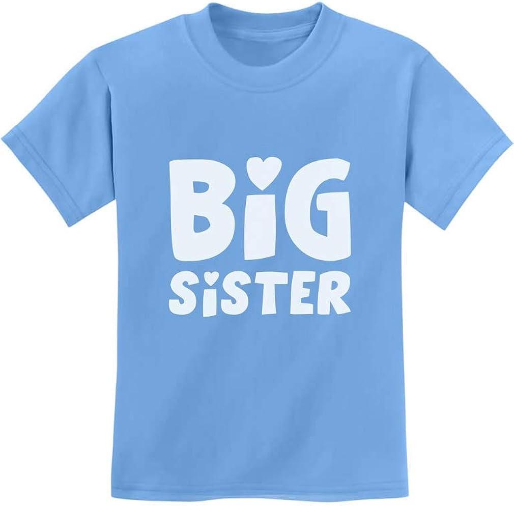 Big Sister Shirt Sibling Gift Elder Sister Cute Kids T-Shirt with Stickers