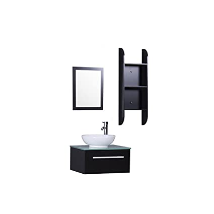 Horow 24 Inch Bathroom Vanity Combo Modern Mdf Cabinet With Vanity