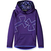 Under Armour Girls Armour Fleece Dual Logo Hoodie