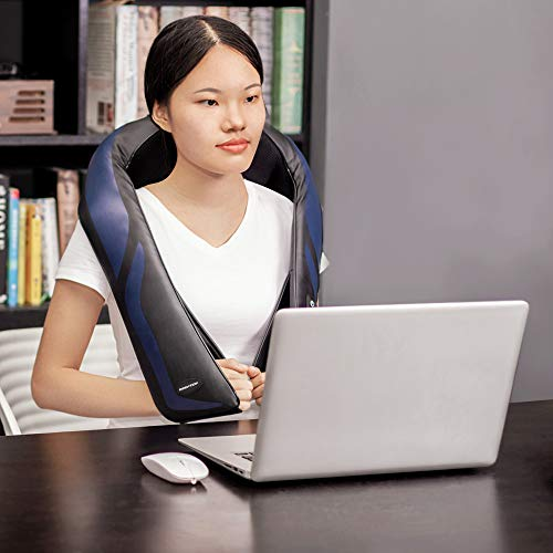 Shiatsu Neck and Shoulder Massager with Heat - Electric Back Massage Pillow with 3D Deep Tissue Kneading for Neck, Back, Shoulders, Legs, and Foot Relaxation at Home, Office, or Car