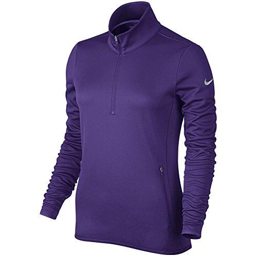 Nike Women's Thermal 1/2 Zip Sweater Purple 685282 547 (l)