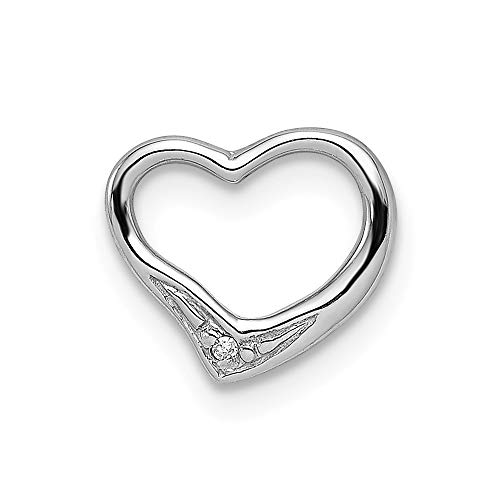 Diamond T-shirt Love - 925 Sterling Silver Diamond Floating Heart Pendant Charm Necklace Love Fine Jewelry Gifts For Women For Her