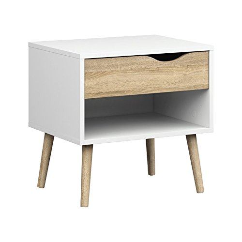 Tvilum 7539449ak Diana 1 Drawer Nightstand, White/Oak Structure by Tvilum
