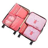 Oniche Travel Packing Cubes, MultiFunction 7 Set Luggage Organizer with Laundry Bag, Luggage