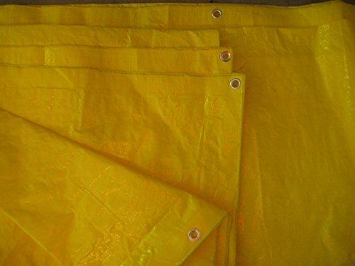 High Visibility Yellow Tarp 3.3 OZ, 12x20