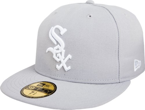 (MLB Chicago White Sox Basic 59Fifty Fitted Cap, Gray,)