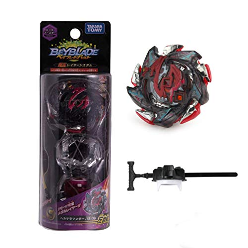 JKC Kids Gyro Burst Starter Booster B-113 Hell Salamander.12.Op Metal Fusion Spinning Tops with Launcher by JKC KIDS