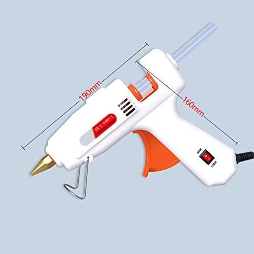 Xing zhe 透明スティックのり、急速加熱技術、多機能ホーム工芸学校ホーム修理DIY、白でホットメルト接着ガン、60-120Wヘビーデューティ、温度ガンセット、 贈り物 (Color : 30 sticks)