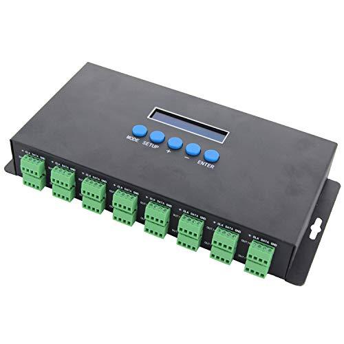 SODIAL Bc-216 Two Port 16 Channels Artnet To Spi/Dmx Ws2811 Ws2812B Sk6812 2801 8806 Led Pixel Controller 340Pixels 16Ch Dc5V-24V