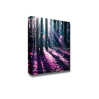 Canvas Prints Wall Art - Fantasy Landscape Mysterious Old Forest | Modern Wall Decor/Home Art Stretched Gallery Canvas Wraps Giclee Print & Ready to Hang - 24