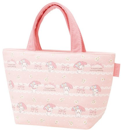 Sanrio Fabric - Skater Saniro My Melody Sweat fabric Lunch Bag Size S