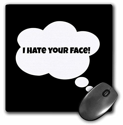 3dRose BrooklynMeme Photo - I hate your face - MousePad (mp_178685_1)