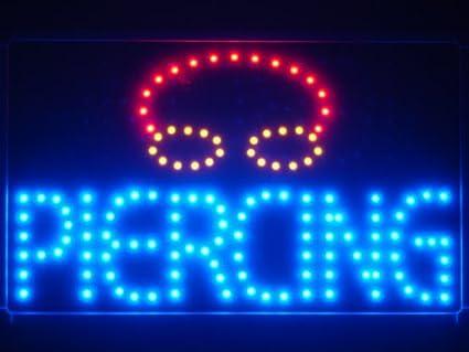 ADV PRO led031-b Piercing luz de neón Señal LED con pizarra ...