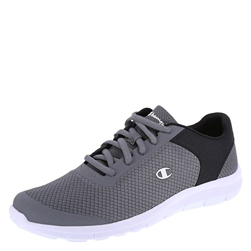 Champion Men's Grey Black Gusto Performance Cross Trainer 13 Regular by Champion