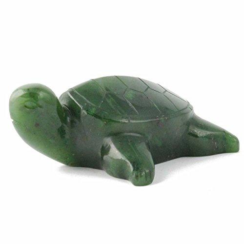 - Nephrite Jade Turtle Carving - 1.5 Inch