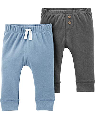 (Carter's Baby Boys 2 Pack Pants, Black/Blue,)