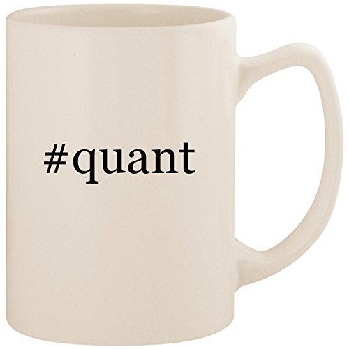 #quant - White Hashtag 14oz Ceramic Statesman Coffee Mug Cup
