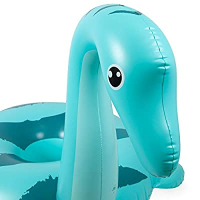 Jumbo Nessie Pool Float | Cute Sea Monster | 5 Feet Long Giant PVC Inflatable Floatie Raft for Inner Tube Summer Fun, Beach Vacation, Kids Pool Parties, and Backyard Relaxation: Toys & Games